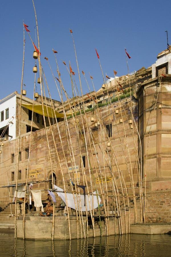 India - Varanasi - Hindu Ghats royalty free stock images
