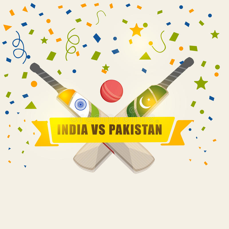 Download India Vs Pakistan Cricket Match Concept. Stock Illustration - Illustration of hobby, championship: 48486163
