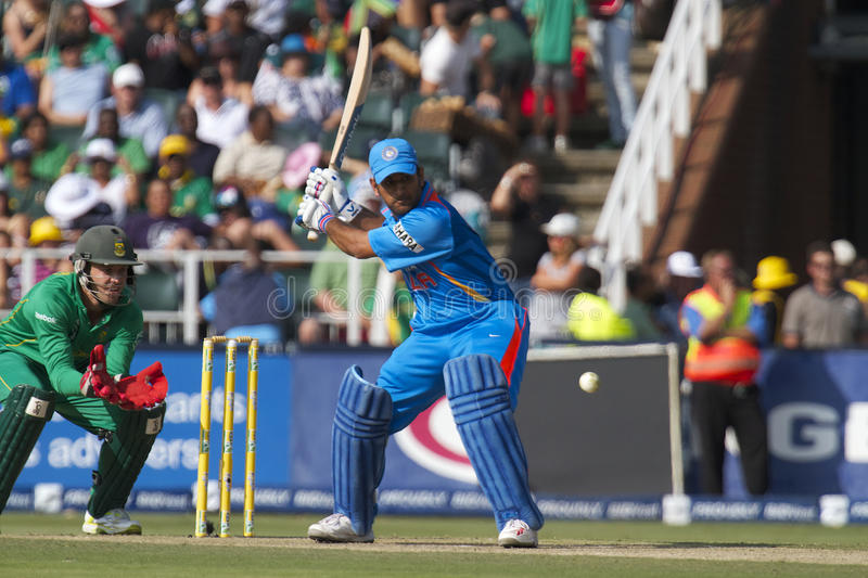 India vs SA. One Day International of the India tour of South Africa royalty free stock image