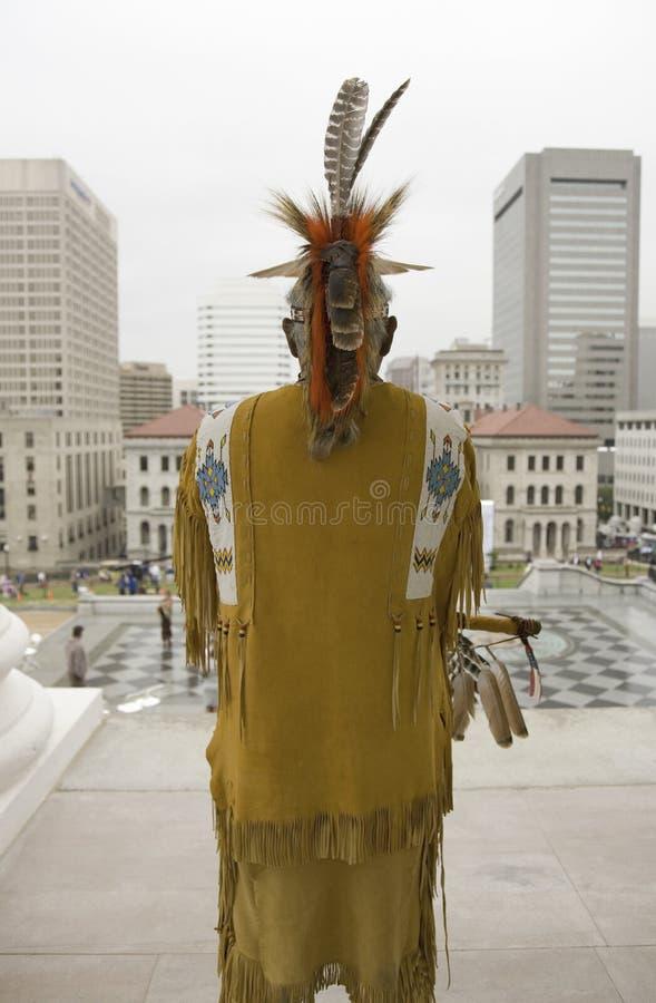 Indiaan En Stammenlid Powhatan Redactionele Foto