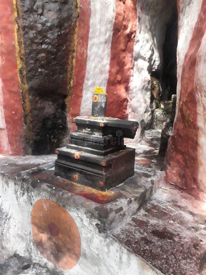 Indiaas standbeeld in Tamilnadu India De naam van het standbeeld is Siva lingam royalty-vrije stock fotografie