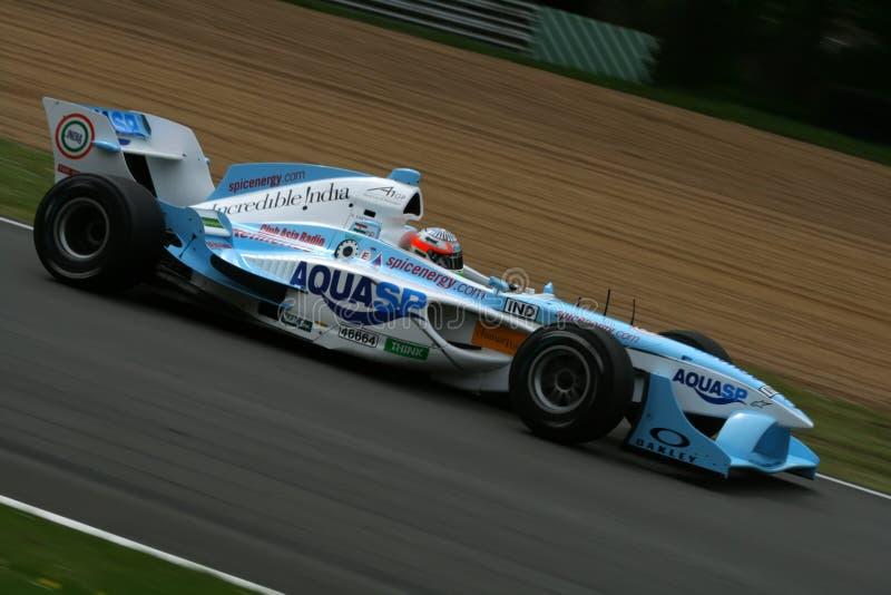 Indian a1 gp race car royalty free stock image