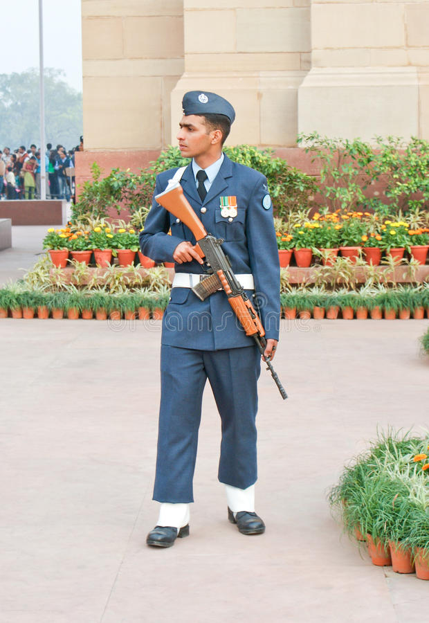Download An Indian Air Force Guard On Duty. Editorial Stock Photo - Image: 18399033