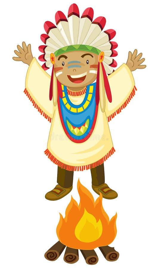 Indian americano ilustração royalty free