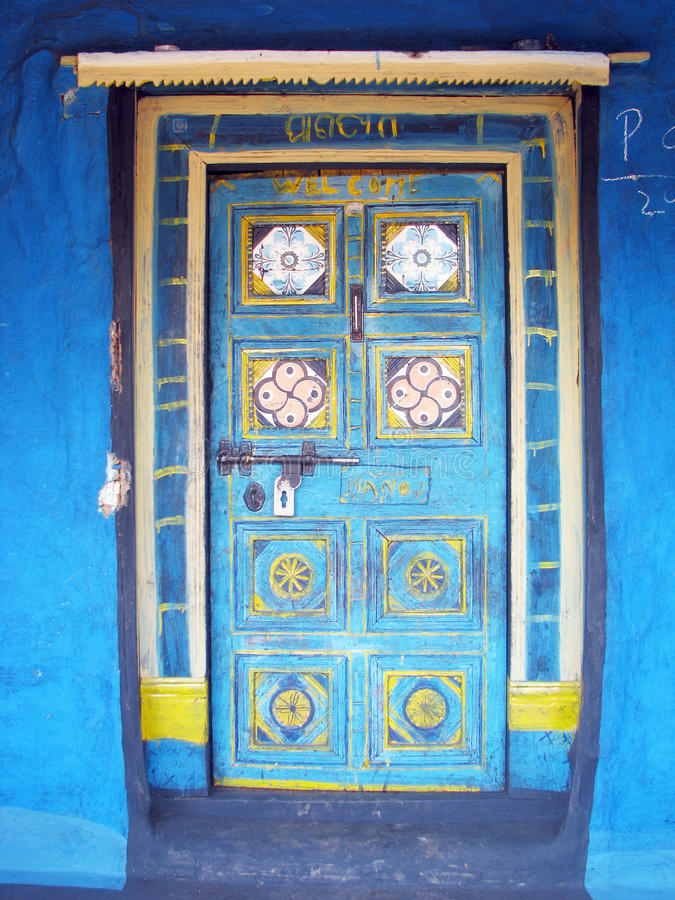 Indian ancient tribal door royalty free stock image
