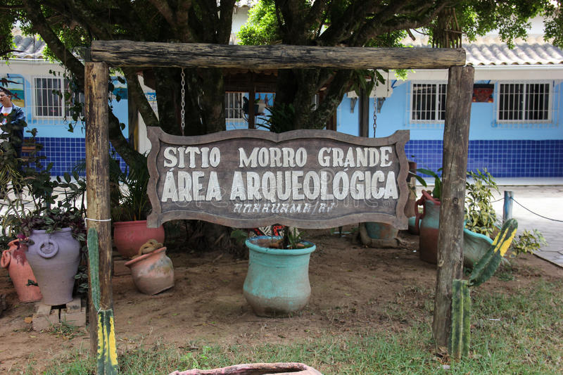 Indian archaeological site of Morro Grande in Rio de Janeiro. Indian archaeological site of Morro Grande, district of the city of Araruama, in the region of the royalty free stock photo