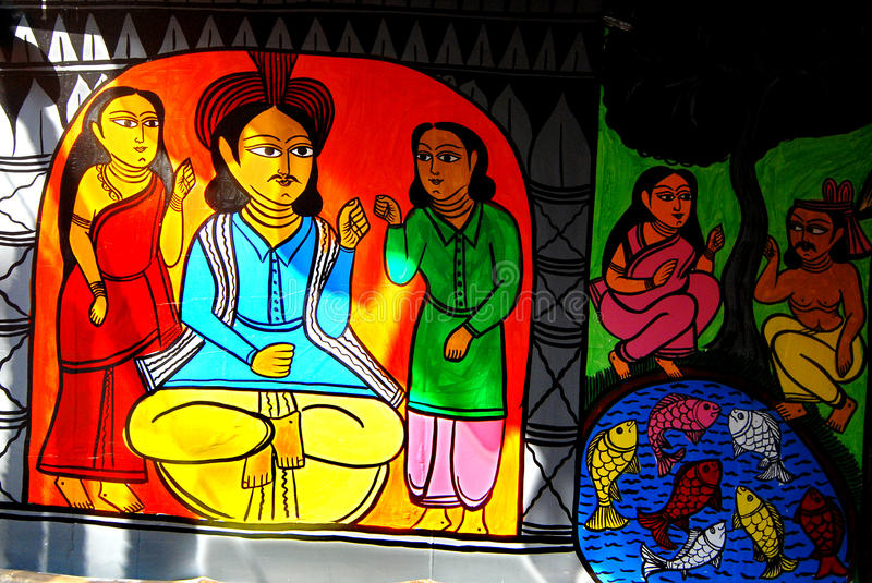 Download Indian Art During Durga Festival Stock Image - Image: 27237837