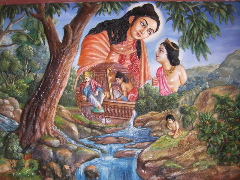 Indian art shows natures beauty royalty free stock images