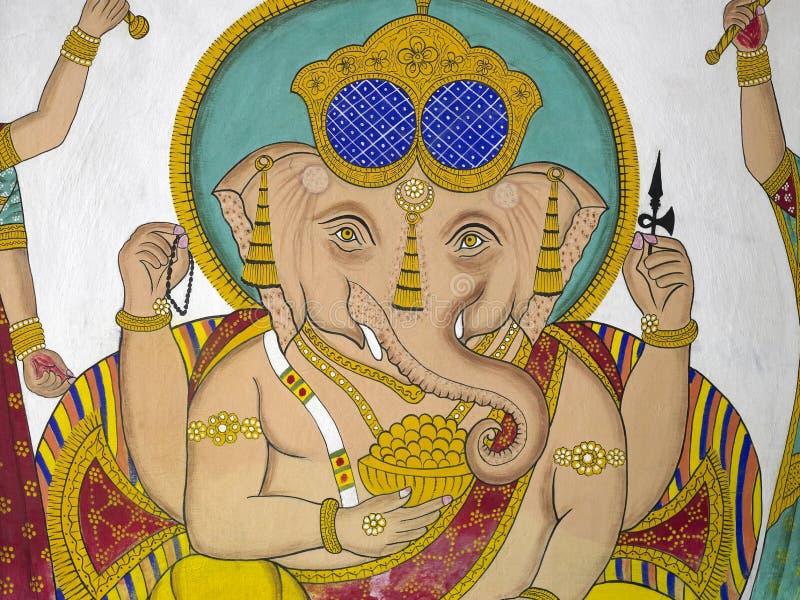 Indian Artwork - Hindu God Ganesha - Udaipur royalty free stock photography