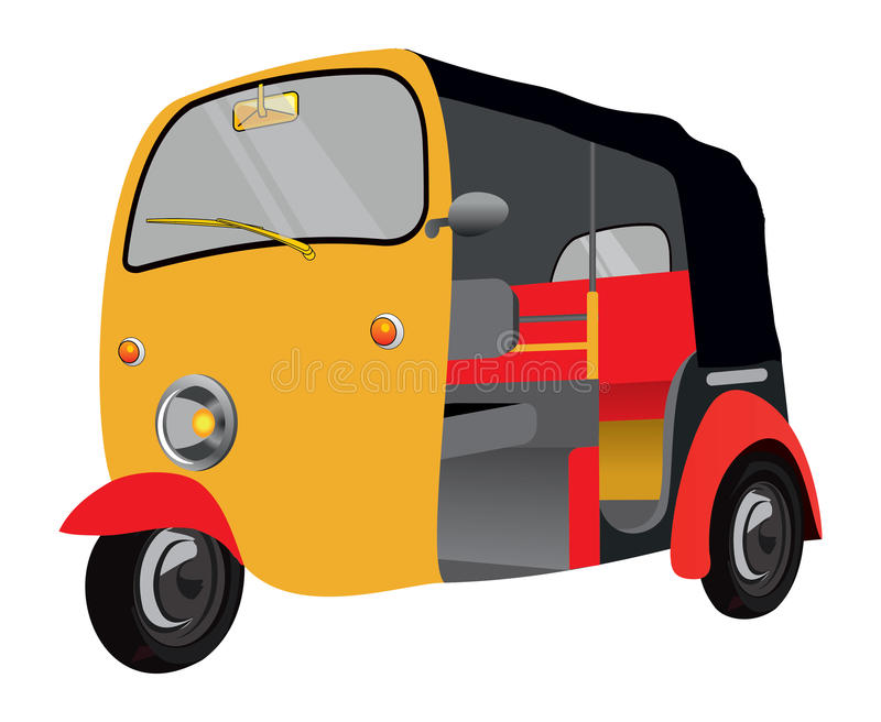 Indian auto Isolated. Indian style colorful auto isolated stock illustration