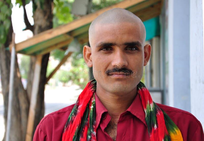 Indian bald man. Beautiful shot of indian bald man royalty free stock image