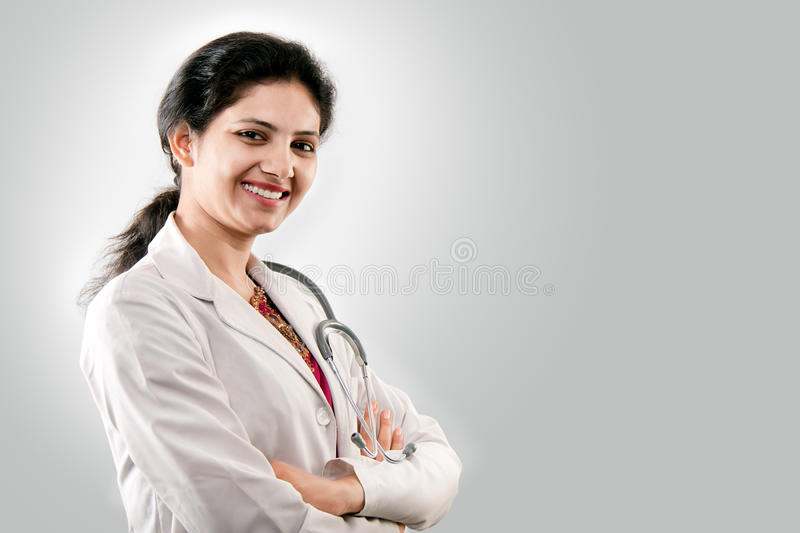 Indian beautiful female doctor royalty free stock photos
