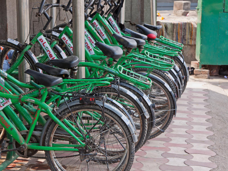 Indian Bike Line stock photography
