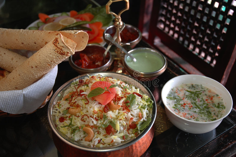 Indian Biryani. Biryani Is One Of The Most Popular Indian & Middle Eastern Dishes Thoughout The Regions royalty free stock photo
