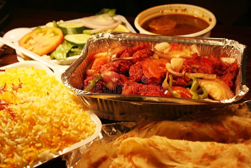 Indian biryani food with chicken masala royalty free stock photo