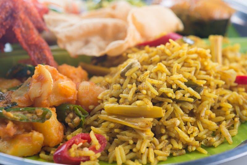 Indian biryani rice closeup. Close up Indian biryani rice stock images