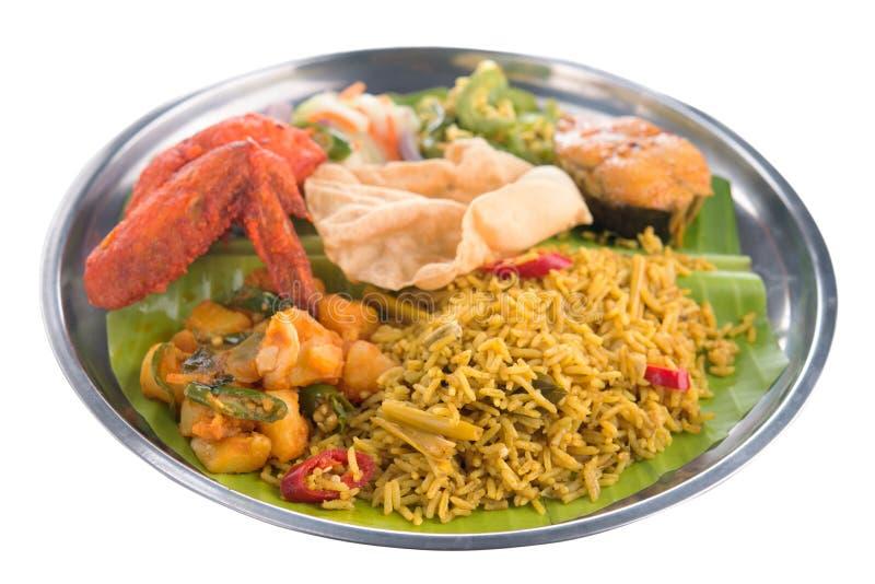 Indian biryani rice isolated. Full length Indian biryani rice isolated on white background stock photography