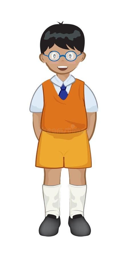 Indian boy stock illustration