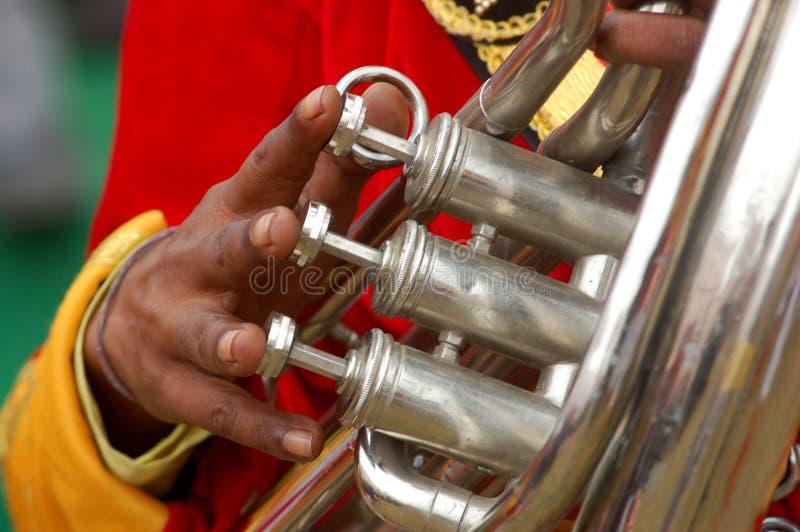 Indian brass band. On wedding stock photos