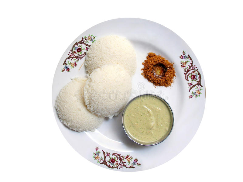 indian breakfast -idly royalty free stock photos
