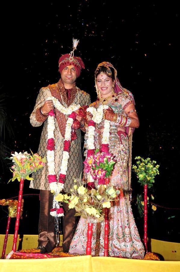 Indian bride and groom. Beautiful shot of indian punjabi bride and groom stock image