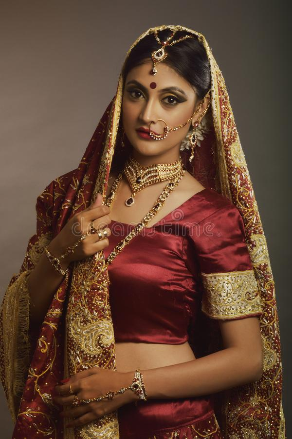 Indian Bride stock image. Image of bride, makeup, ethnic - 99826503
