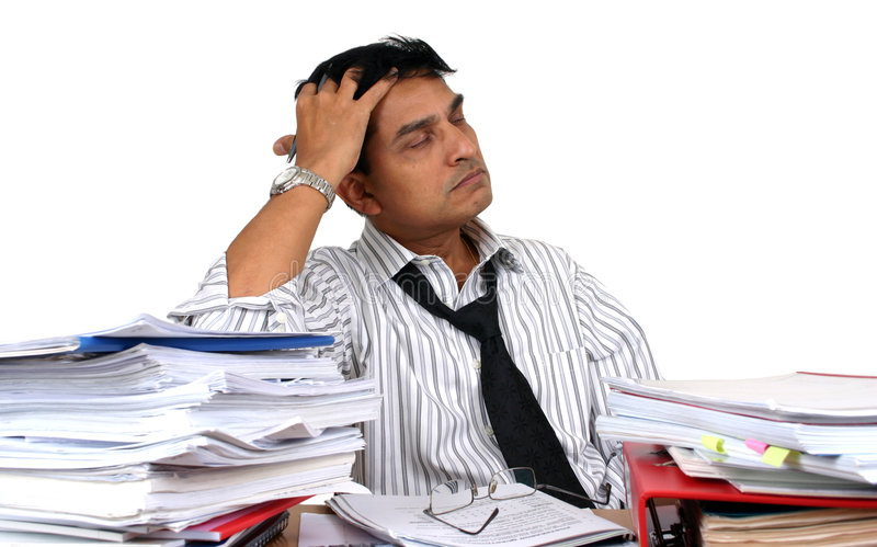 Indian business man at work. royalty free stock image