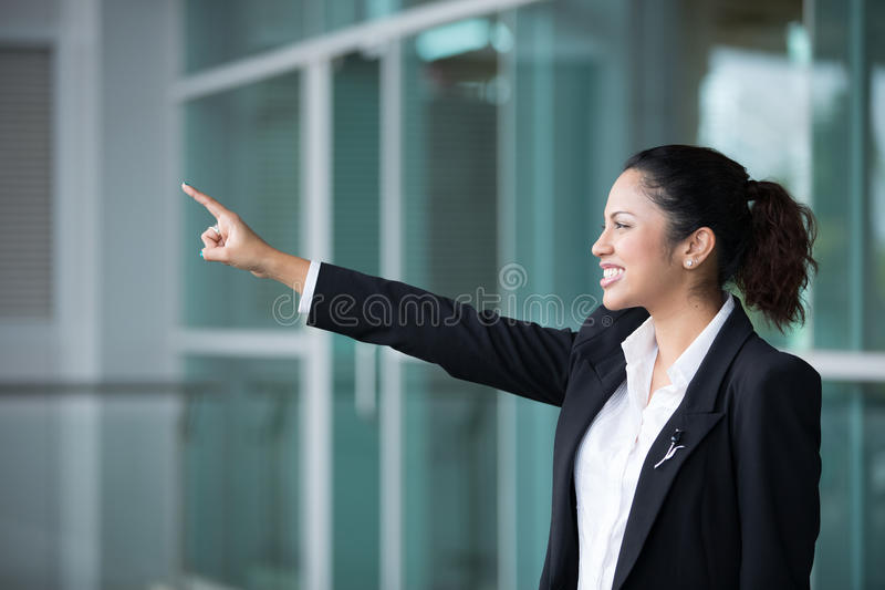 Download Indian Business Woman Pointing To Distance Stock Photography - Image: 25959262