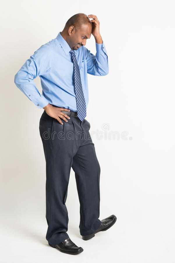 Indian businessman in emotion stock photos