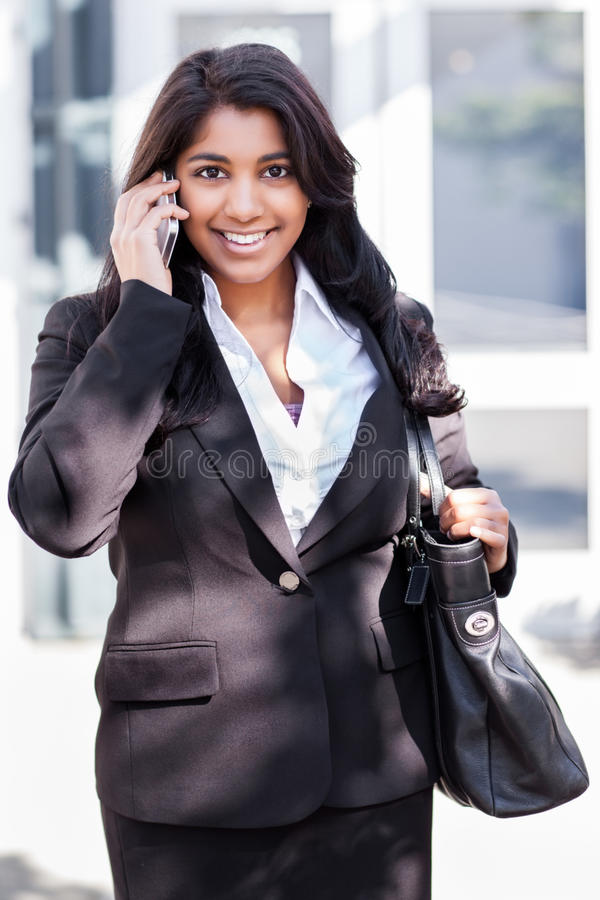 Download Indian Businesswoman On The Phone Stock Image - Image: 26038799