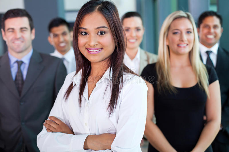 Indian businesswoman team royalty free stock images