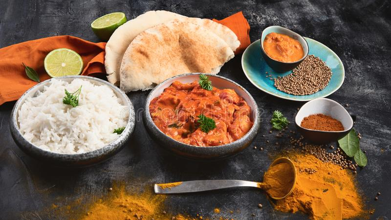 Indian Butter chicken stock image