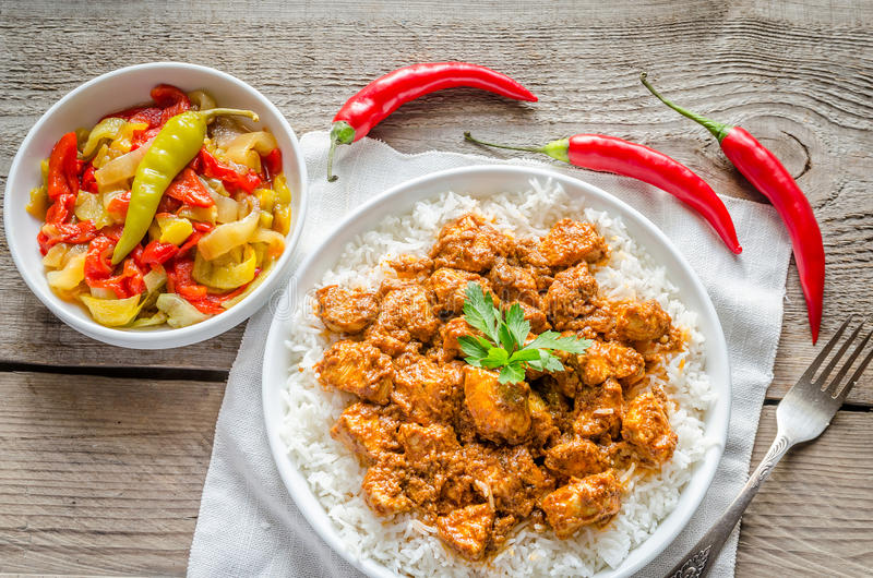Indian butter chicken royalty free stock photos