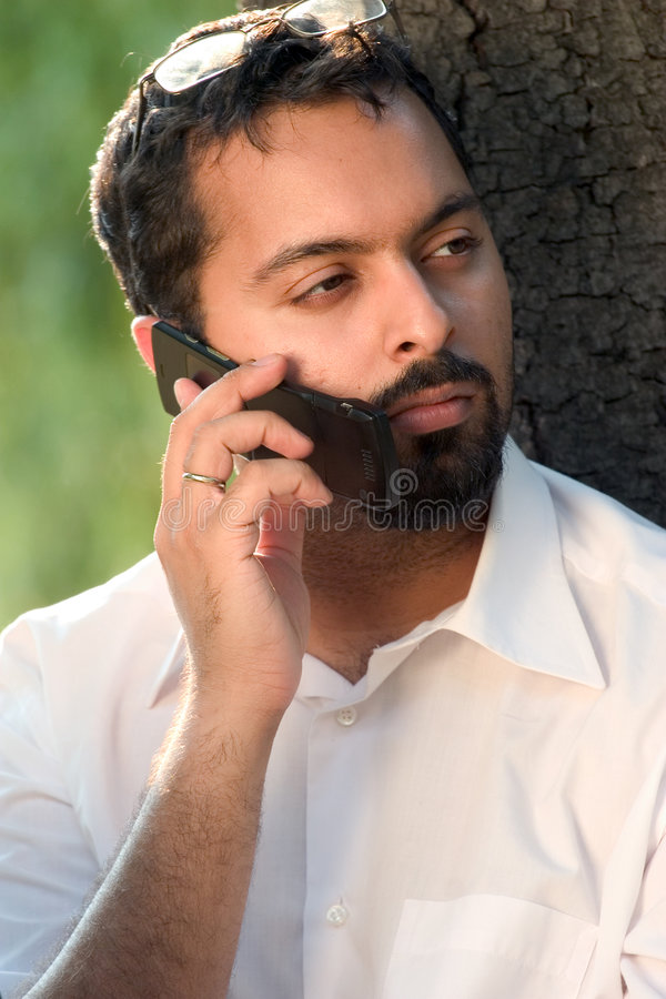 Indian calling royalty free stock photography