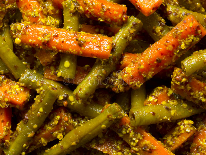 Indian carrot and bean pickle stock photo