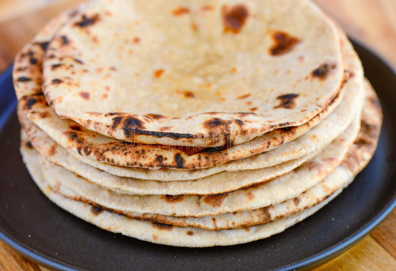 Indian Chapati royalty free stock image