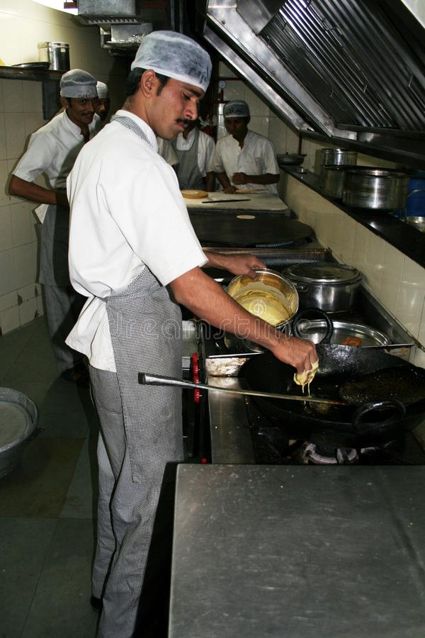 Indian chef stock image
