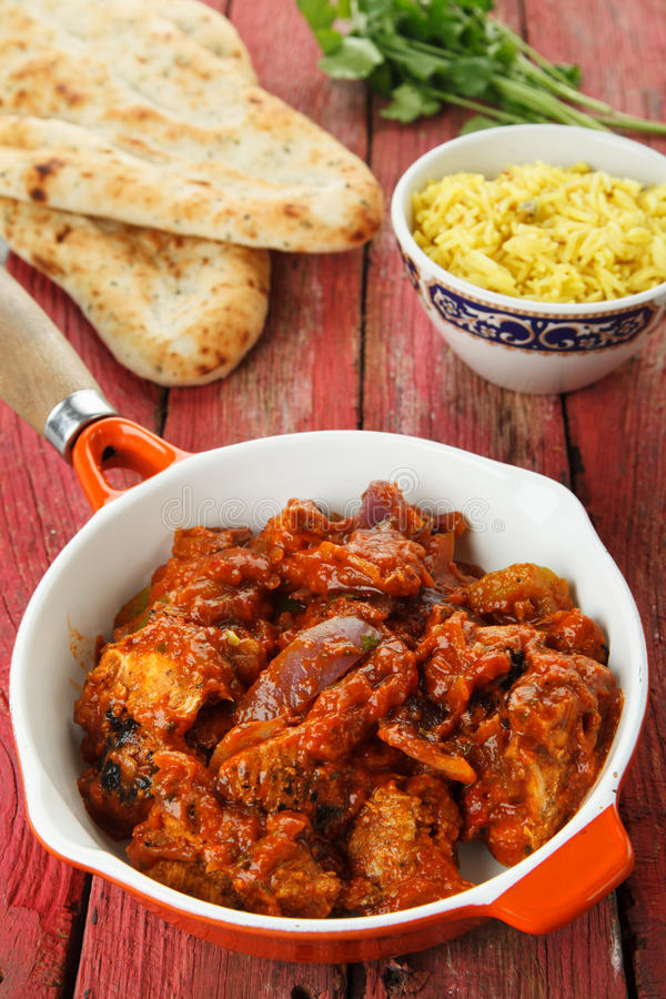 Download Indian Chicken Curry stock photo. Image of chicken, bread - 25420672