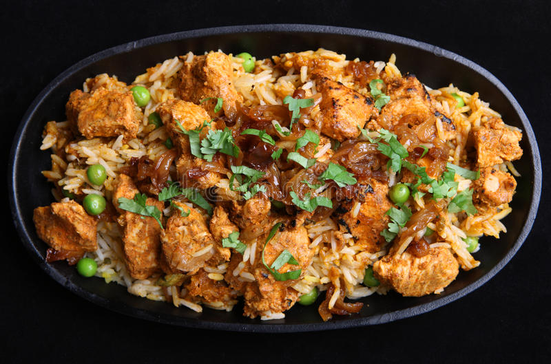 Indian Chicken Tikka Biriyani royalty free stock photography