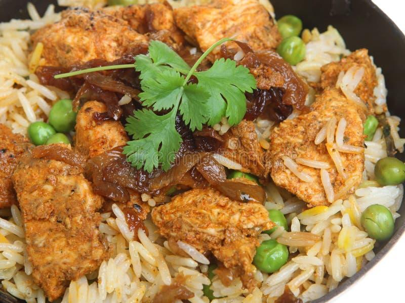 Indian Chicken Tikka Biryani Curry. In balti dish royalty free stock photo