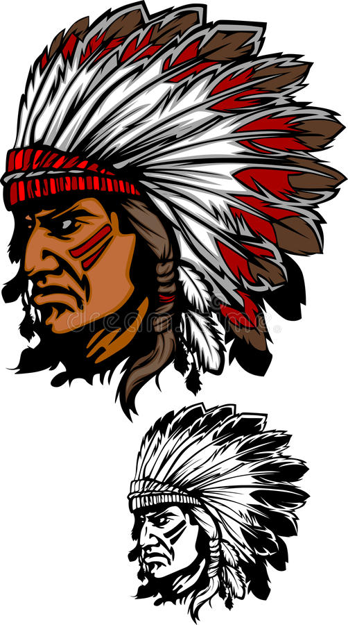 Free Indian Chief Mascot Vector Logo Stock Image - 17327881