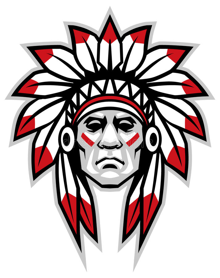 Indian chief. Vector of indian chief head mascot