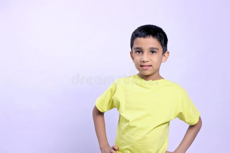Indian child on eyeglass stock photo