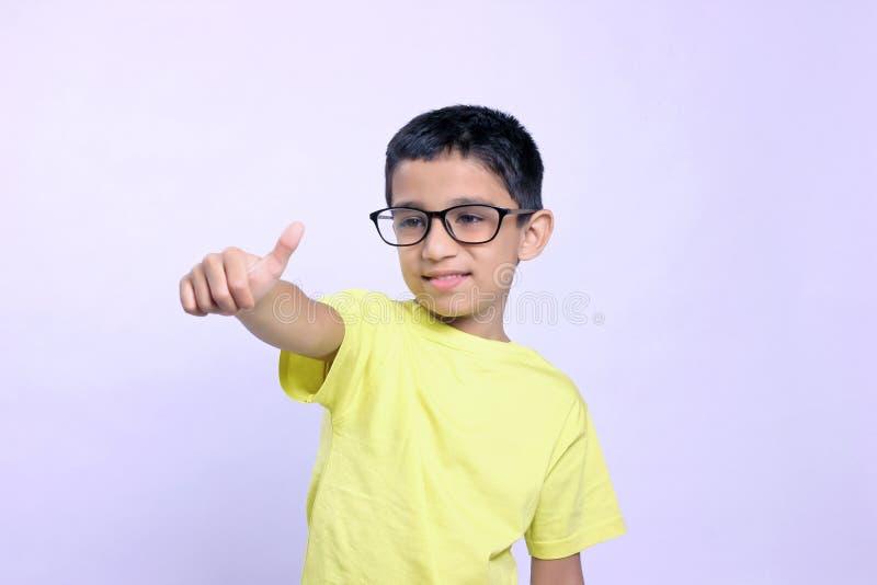 Indian child on eyeglass royalty free stock photos