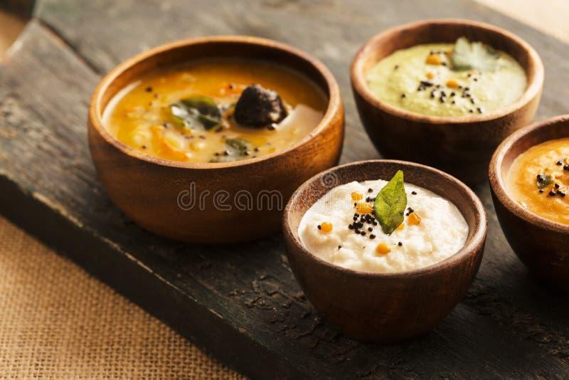 Indian Chutney Sambar stock photo