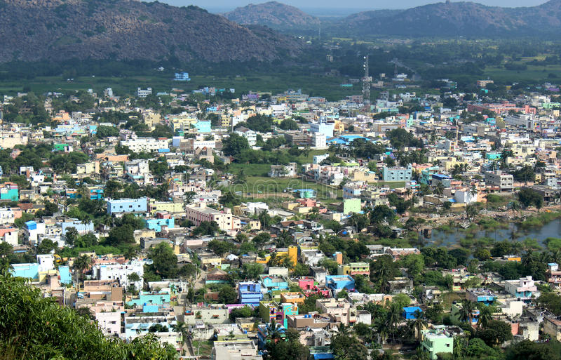 Indian city. Of gingee, tamilanadu, india -landscape royalty free stock photos