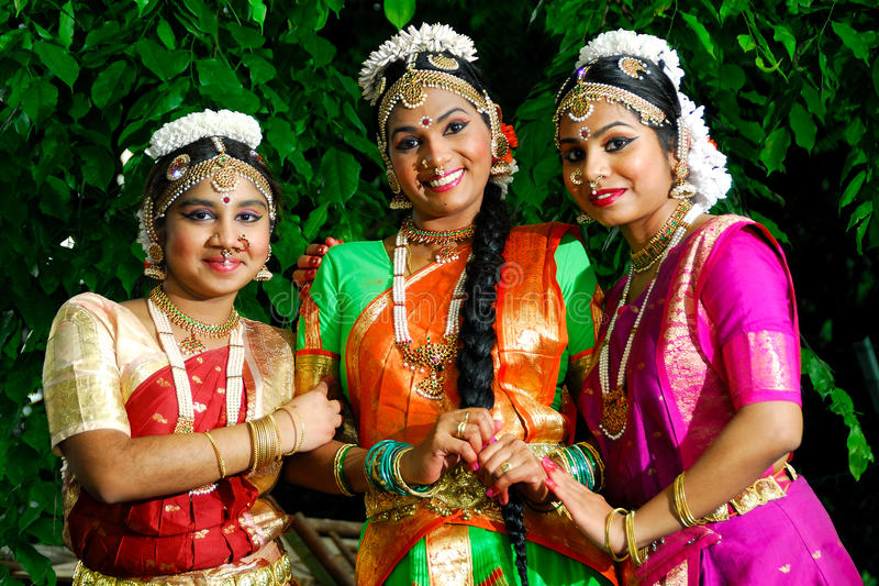 Indian Classical Dance Costume royalty free stock image