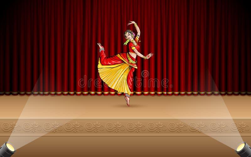 Download Indian Classical Dancer stock illustration. Illustration of ancient - 25293667