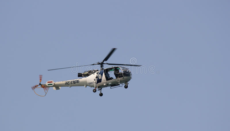Indian Coastguard Rescue Helicopter royalty free stock photo