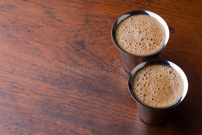 Indian coffee background stock photo